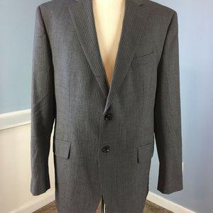 BANANA REPUBLIC 44 R MODERN GRAY PINSTRIPE blazer